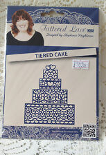 BRAND NEW & SEALED TATTERED LACE DIE- TIERED CAKE -DISCONTINUED - D262
