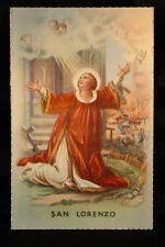 OLD SAINT LAWRENCE OF ROME RELIGIOUS POSTCARD . SEE MY EBAY SHOP . CCER79