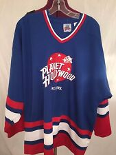 VTG 90s Planet Hollywood New York Hockey Jersey Rangers NHL - XL - Hockey