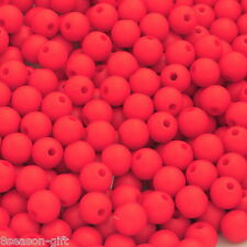 "300PCs Acrylic Matte Red Round Ball Spacer Beads 8mm( 3/8"")Dia."