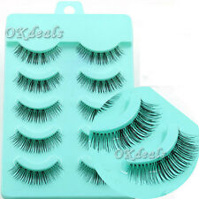 5 Paar Soft Natural falsche Wimpern Handmade Fake False Eyelashes Makeup DODE