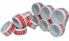 "6 x Rolls of  2"" FRAGILE Packing Parcel Tape 48mm x 66m LOW NOISE Top Quality"