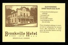 Recipe US postcard Old-Fashioned Sweet-Sour Cole Slaw Brookville Kansas KS