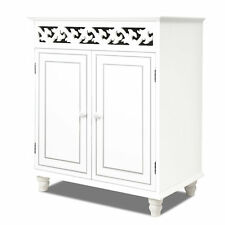 White Storage Unit Wooden Cupboard Cabinet Bed Side Board Furniture Home Room