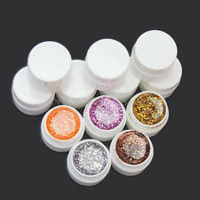 36 Mixed Color Glitter UV Builder Gel Acrylic Set for Nail Art Tips Accessories