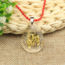 Auspicious Jewelry Men Women Chinese Zodiac Cow Pendant Necklace Charm Gift