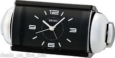 Seiko Quiet Sweep Second Hand Black Face Loud Bell Alarm Clock QHK027K