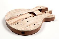 Cuerpo guitarra Les Paul caoba -  Mahogany spalted maple LP electric guitar body