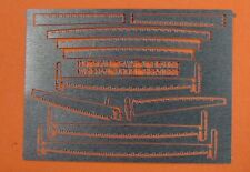 HO/HOn3 WISEMAN MODEL SERVICES HOLS-1 LOGGING SAWS & BLADES ETCHING SET
