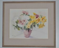 Famed Watercolour Painting Still Life Signed B.R 1996 - FREE P&P [PL2205]