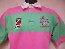 Rugby Shirt 2007  Hong Kong SZ SMALL Rugby GREEN-PINK