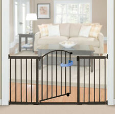 Baby Gate With Swing Door For Wide Openings Modern Extra Wide Doorways Stairs