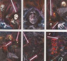 Star Wars Galaxy 7 - Set of 6 Etched Foil Chase Cards #1-6