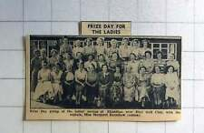 1957 Prize Day For Ladies Golf Club Rhyl With Captain Margaret Earnshaw