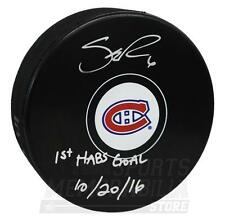 Shea Weber Montreal Canadiens Signed Autographed 1st Habs Goal Inscribed Puck