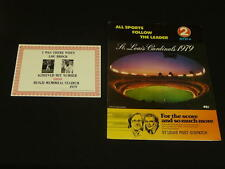 1979 ST. LOUIS CARDINALS LOU BROCK 3000 HIT PROGRAM WITH CERTIFICATE
