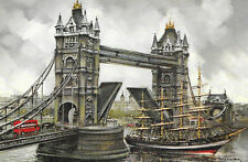 London TOWER BRIDGE & THE THAMES Artist M Legendre Krisarts Paris Ref: 18988