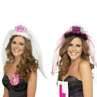 Bride To Be Crown Tiara Veil Bachelorette Girls Night Hen Party Do Dress OO