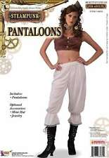Pantaloons Victorian Steampunk Cream Lace Trimmed Ladies Costume Bloomers