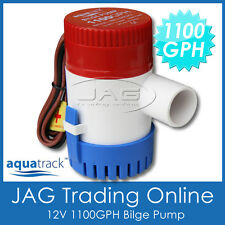 AQUATRACK 12V SUBMERSIBLE BILGE PUMP 1100GPH / 4165LPH - Boat/Marine/Water Pump