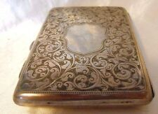 Victorian Sterling Silver Engraved & Chased Calling Card Case Birmingham