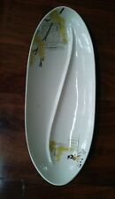 Vintage 50's 60's RED WING REDWING CAPISTRANO Divided Relish Serving Dish GREAT