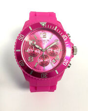 Madison New York U4362-05 CHRONO Pink Damen Herren Uhr Silikon Kinderuhr neu
