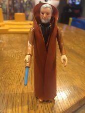 Vintage 1977 Kenner Star Wars Ben Obi-Wan Kenobi Figure Blue Lightsaber Lot