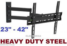 "23-42"" DUAL ARM LCD LED HD TV FULL MOTION WALL MOUNT 3D 24 26 28 30 32 34 36 40"
