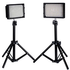NEEWER 2X PHOTOGRAPHY LED LIGHT CN-304 + LIGHT STAND 80CM