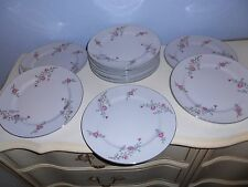 "12 ARLEN FINE CHINA Cathay Flora & Silver Trim 10 1/4"" Dinner Plates 1476 Japan"