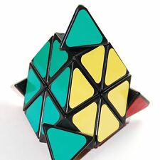 US Sell QJ Pyraminx Sticker Speed Magic Puzzle Cube Children Toy Black
