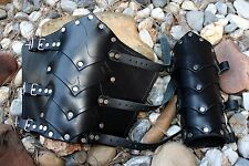 Layered Dragon's Belly Bracers arm Armor SCA LARP armour ren warrior fantasy Ren