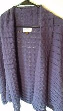Sonoma Woman 1xl Short Sleeve Open Front Pointelle Knit Sweater Cardigan