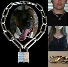 Junkyard Dog Collar Necklace Padlock Choker Chain Gangster Mad Max Inspired Punk