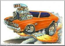 Mad Dog Art 1970 Chevelle SS 396 402 454 Wall Graphic Mural Decal Cling Man Cave