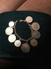 14K YELLOW GOLD ITALIAN LIRE COIN BRACELET *MADE IN ITALY