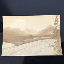 Photo Ancienne Train Canada Pacific Railway CPR Emerald Lake Valley 1930