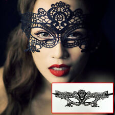 Women's Eye Mask Sexy Hollow Lace Masquerade Halloween Costume Ball Party Mask