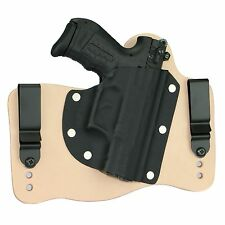 FoxX Leather & Kydex IWB Hybrid Holster Walther P22 Natural Tan Right Tuckable