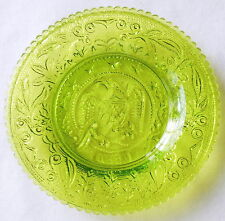 Westmoreland Green 1861 Eagle Shield Stars Pressed Glass Cup Plate
