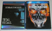 Action Blu-ray Lot - The Terminator (Used) Total Recall (New)