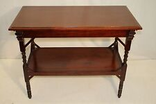 Antique Aesthetic Movement Solid Cherry Library Central Table, 19th Century