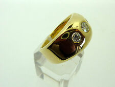 # 013 # SCHMUCK-RING HERRENRING 585 GOLD 14K MIT BRILLIANTEN ca. 1,08 ct.   U 67