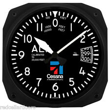 "New Trintec 10"" Cessna  Altimeter Style Aviation Instrument style Clock Aviator"