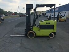 "CLARK 6000LB CAP ELECTRIC FORKLIFT 42"" FORKS QUAD MAST 20' LIFT WORKS GREAT"