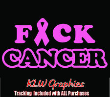 F*ck Cancer * vinyl decal sticker Family Diesel Truck Mon Car Window 1500 Ribbon