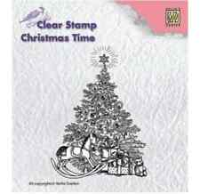 Nellie Snellen Clear Rubber Stamp Beautiful Ornate Christmas Tree with Gifts