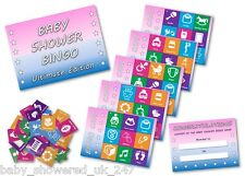 Baby Shower Party Games  BABY SHOWER BINGO - ULTIMATE EDITION  uni  / 20 players