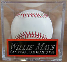 WILLIE MAYS Giants NAMEPLATE FOR AUTOGRAPHED Signed Baseball Display CUBE CASE